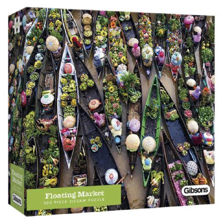Floating Market 500 Piece Gibsons Jigsaw